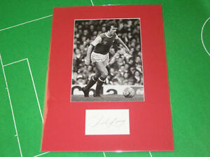 Arsenal-David-O-039-Leary-Signed-Press-Photograph-Mount