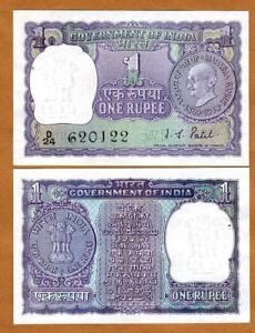 India-1-Rupee-ND-1969-1970-signature-82-P-66-UNC