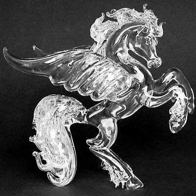 Pegasus Flying Horse Glass Figurine Crystal Sculpture