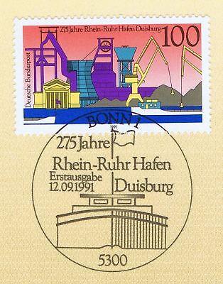Brd 1991: Duisburger Hafen Nr. 1558 Mit Sauberem Bonner Ersttagsstempel! 1a 1810 Um Sowohl Die QualitäT Der ZäHigkeit Als Auch Der HäRte Zu Haben