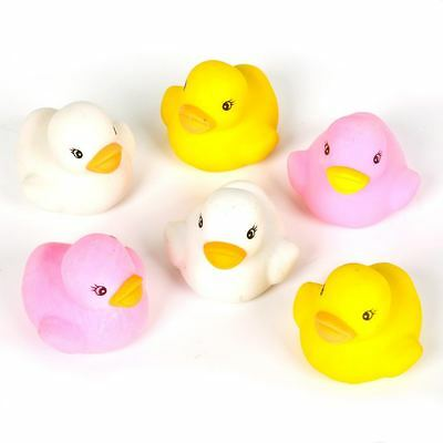 SIX ASSORTED CUTE RUBBER DUCK ERASERS NEW SCHOOL STATIONERY