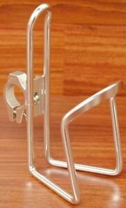 HANDLEBAR-MOUNT-BICYCLE-BIKE-CYCLING-WATER-BOTTLE-CAGE-HOLDER-W-BAR-CLAMP-SILVER