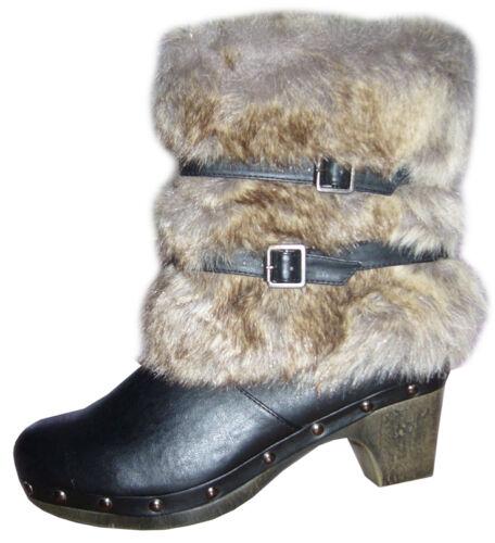 Winterstiefel 36 Kunstfell Gefüttert Stiefel 40 38 41 Neu Boots Schuhe 37 39 HqwBAd