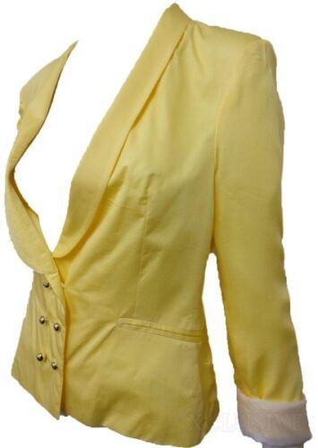 Femmes Manche Manteaux Neuf 8 Bouton Blazer Militaire 16 Veste Revers tRt4Hdx