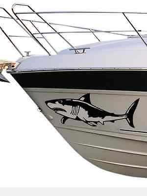 2 X Shark Decals / Stickers / Graphics For Boats Cars etc, 25+ Colours Avail SH3
