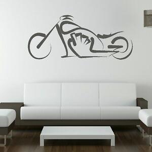 Tribal-Harley-Motorbike-Wall-Sticker-Interior-Art-Bike-Wall-Transfers-MO3