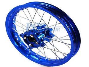 NEW-12-034-BLUE-FRONT-RIM-WHEEL-CNC-HUB-HONDA-SDG-COOLSTER-107-125cc-M-RM11B