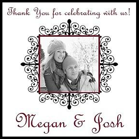 50 Personalized Wedding Favor Labels with Photo