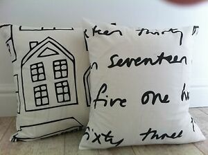 New-Funky-Number-Words-Home-Black-amp-White-Ikea-Fabric-Scatter-Cushion-Covers-16-034
