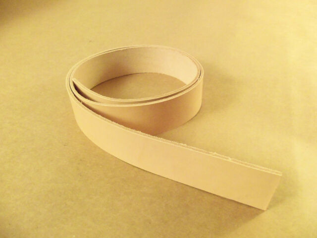 "8/9 oz Veg Tanned Natural Leather Belt Blanks 54""-60"" (Various Widths)"