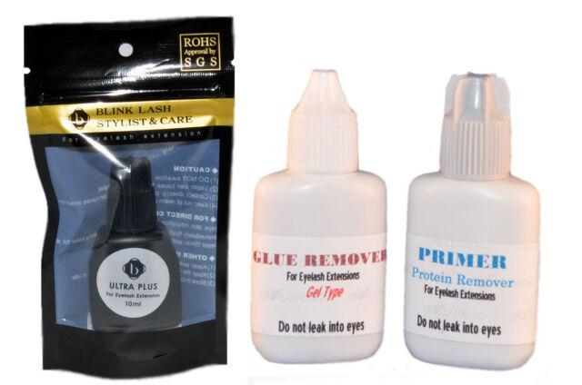 Eyelash extension Blink Ultra Plus Glue +Primer+ Remover Set