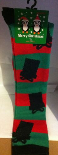 Christmas Design Knee high Socks size 9-11 12 color styles avail.