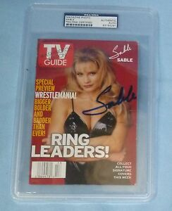Sable-Rena-Mero-Lesnar-Signed-TV-Guide-PSA-DNA-COA-Autograph-Magazine-Cover-WWE