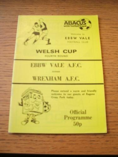 1988/1989 Ebbw Vale v Wrexham [Welsh Cup] . No obvious faults, unless descriptio