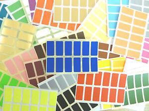 25x12mm-Rechteck-Aufkleber-Gefaerbt-Rechteckig-Selbstklebeetiketten-36-Farben