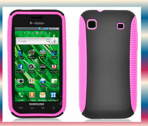 Pink-Black-HYBRID-TPU-SAMSUNG-Galaxy-S-GT-I9000-HardShell-Phone-Hard-Case-Cover