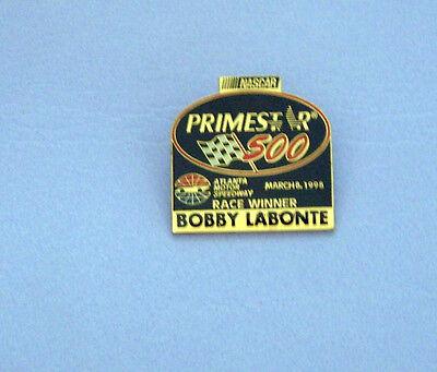 Tack Pin NASCAR PRIMESTAR 500 Race Winner Bobby Labonte Atlanta March 8, 1998