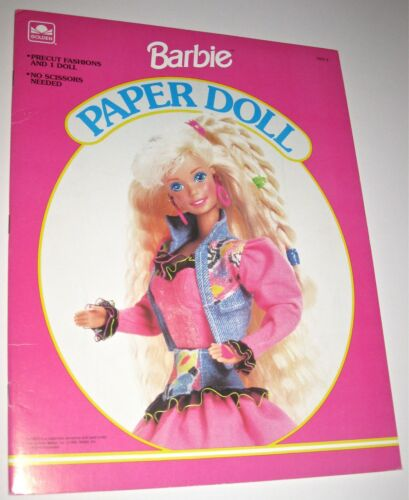 Golden 1992 Barbie Paper Doll Book PreCut Fashions *UNCUT*
