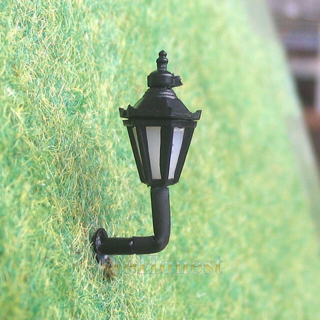 8 pcs N Scale Long Life Wall Lampposts LEDs Made Cold Lights ( Not Hot ) #BD5