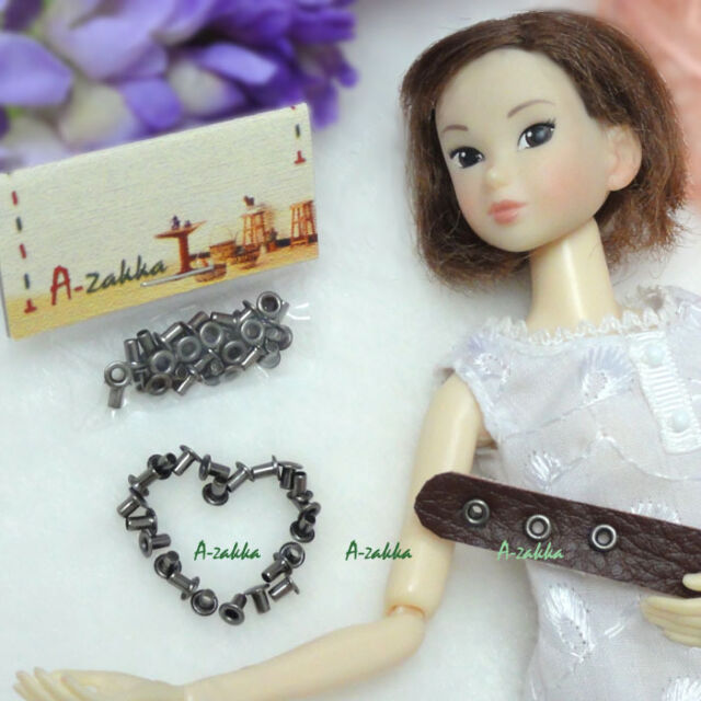 Doll 1/6 Dollfie Dress Making DIY Craft Metal Mini Eyelet 2mm Dark Grey (30pcs)