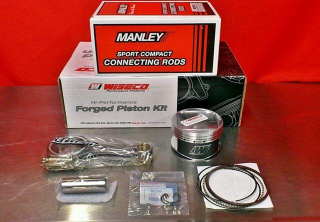 4G64 Manley LONG Rods 14020-4 Wiseco K667M865AP Pistons EVO  7-Bolt 2.4 156mm