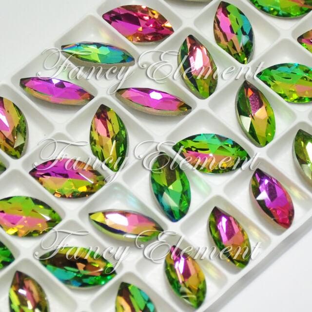36 Rhinestone 4200 18x9mm Vitrail Medium Navette Crystal Jewellery Sew On Stone