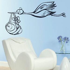 Stork-Carrying-Nursery-Wall-Sticker-Large-Decor-Nursery-Wall-Transfer-RA112