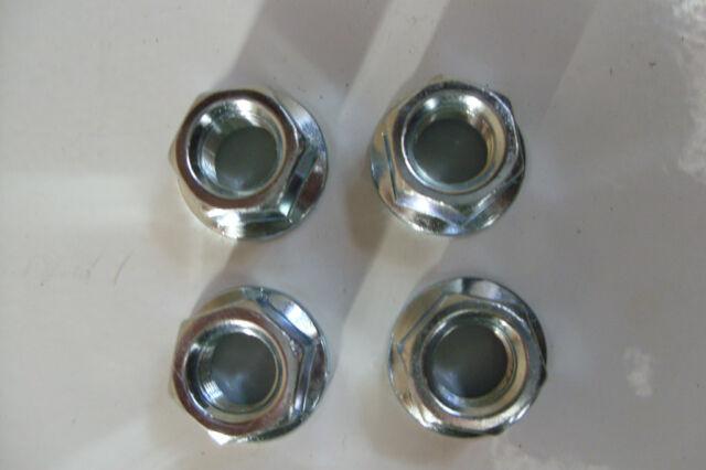 BMX WHEEL NUTS CHROME 3/8 X 26TPI 4PCS