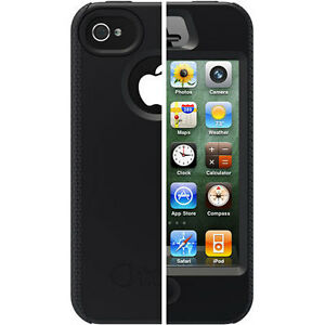 NEW-Otterbox-Apple-Iphone-4-4S-Impact-Black-Silicone-Protective-Cover-Case