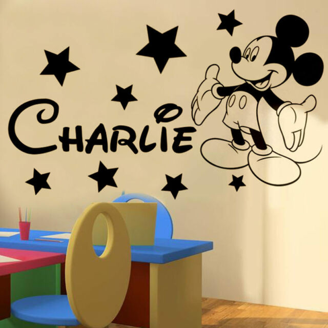 Mickey mickey Mouse Personalised boys bedroom wall sticker kit