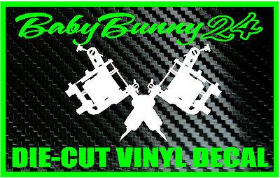 Tattoo Gun Machine Laptop Car Truck Decal Vinyl Sticker