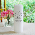 "Personalized White/Silver 3 Piece Whimsical Hearts Unity Candle Set (White) (15.5""D x 12""H x 8""W)"