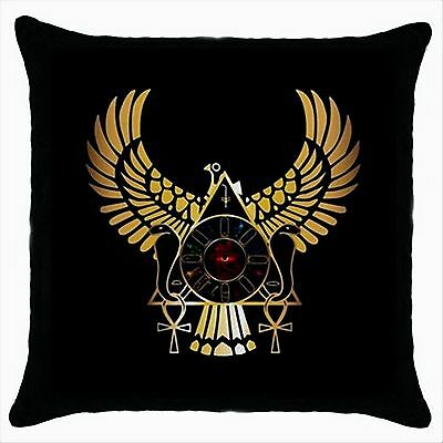 NEW* HOT EGYPTIAN EAGLE Quality Black Throw Pillow Case Cushion Cover Gift