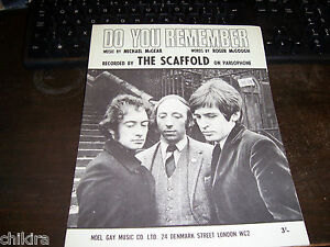 SHEET-MUSIC-THE-SCAFOLD-THANK-U-VERY-MUCH-ORIGINAL-UK-1967-EX