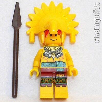 M778 Lego Custom Amazon Warrior Minifigure with Jungle Headdress & Spear NEW