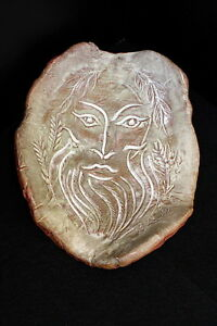 """Pottery & China Pottery & Glass Hand Carved Vintage Art Pottery Plaque Face Marked """"lr"""" With The Most Up-To-Date Equipment And Techniques"""