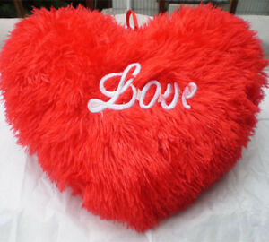 Image is loading Cute-Red-Heart-034-Love-034-Pillow-Cushion-
