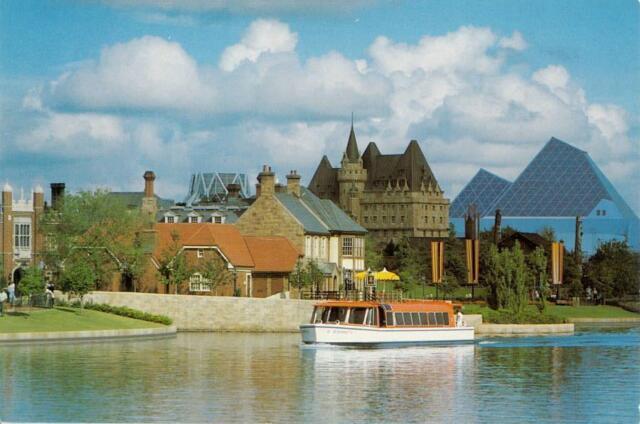 Walt Disney World Epcot Center Park Transitional Voyage Vintage 1983 Postcard