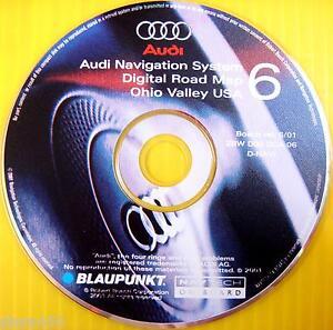 2001-01-Audi-Navtech-Nav-CD-Disc-Digital-Road-Map-6-Ohio-ZBW-D02-DCA-06
