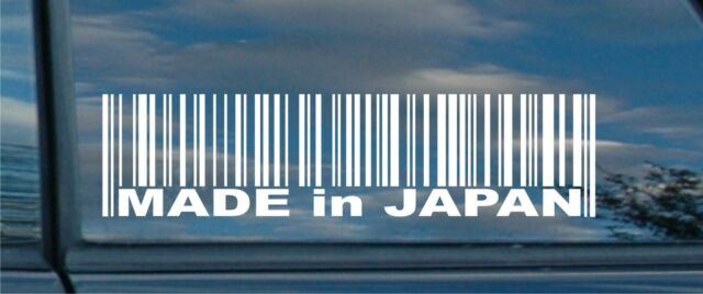 MADE in JAPAN car vinyl sticker decal 22 colours free P&P 1st class