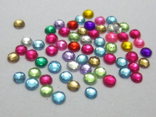 10000 Mixed Color Acrylic Round Faceted Rhinestone Gem Flatback Bead 2mm+Storage