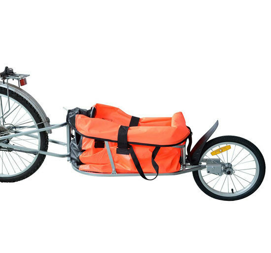 Steel Bicycle Cargo Trailer One Wheel Bike Luggage Cart Carrier New