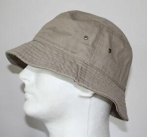 100-COTTON-MEN-FISHING-BUCKET-HAT-CAP-LARGE-XL-DARK-BEIGE-KHAKI-NEW