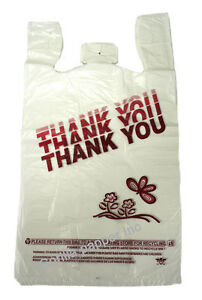 1000-Box-of-Large-Plastic-Thank-You-T-Shirt-Merchandise-Shopping-Bags-White-Red