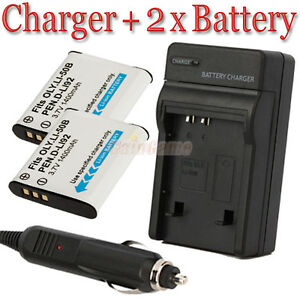 2x-LI-50B-Battery-Charger-for-OLYMPUS-Mju-Tough-6020-8010-5010-Camera