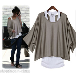 New-Casual-Short-Sleeve-Tops-amp-Blouses-Womens-T-Shirts
