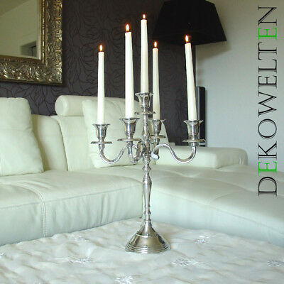 Kerzenleuchter Kerzenständer Kronleuchter 40 cm 5-flammig Samtfuß von Dekowelten