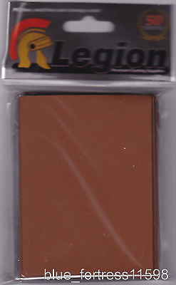 50 BROWN LEGION DECK PROTECTORS CARD SLEEVES MTG WoW