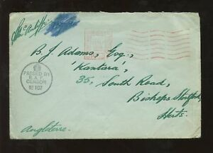 GB 1939 SEPTEMBER OFFICIAL PAID in UK + RAF CENSOR ABINGDON signed McAuliffe