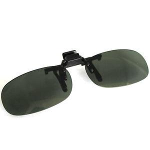 New-Shades-Clip-on-Outdoor-Flip-UV-Sun-Eyes-Protecting-Unisex-Sunglasses-Unbrand